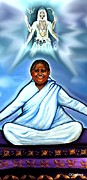 Mata Amritanandamayi Prints - Amma and Kali Print by Carmen Cordova