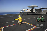An E-2c Hawkeye Launches Print by Stocktrek Images