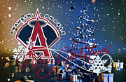 Glove Prints - Anaheim Angels Print by Joe Hamilton