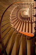 Railing Prints - Ancient Staircase Print by Brian Jannsen