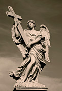 Angel  Artwork Prints - Angel Statue Print by Brian Jannsen
