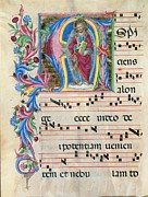 Music Score Photos - Anonymous Sienese Painter, Day Hours by Everett
