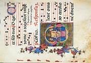 Music Score Metal Prints - Anonymous Sienese Painter, Diurnal Metal Print by Everett