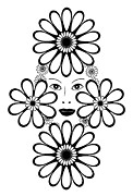 Flower Design Art - Art Nouveau Woman by Frank Tschakert