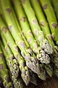 Raw Framed Prints - Asparagus Framed Print by Elena Elisseeva