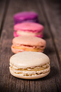 French Photo Framed Prints - Assorted macaroons vintage Framed Print by Jane Rix