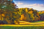 Autumn Landscape Mixed Media Posters - Autumn Light Poster by Lutz Baar