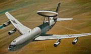 Crew Prints - AWACS Up for a Drink Print by Dale Jackson