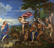 Tiziano Vecellio Prints - Bacchus and Ariadne Print by Titian