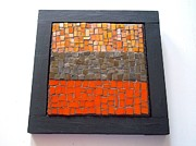 Fall Colors Glass Art - Back To Basics Number One by Cindy White