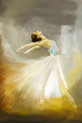 Ballet Dancer Metal Prints - Ballerina  Metal Print by Corporate Art Task Force