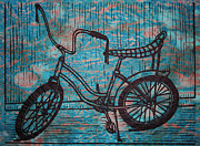 Lino Print Prints - Banana Seat Print by William Cauthern