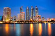 Fototrav Print - Bangkok City night skyline