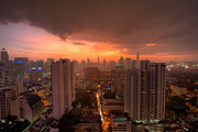 Fototrav Print - Bangkok city skyline at sunset