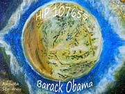 Barack Obama Star Print by Augusta Stylianou