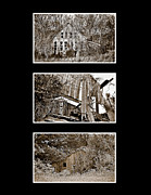 Ghost Signs Prints - 3 Barns Vertical Print by Greg Jackson