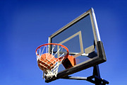 Basket Ball Game Prints - Basketball Shot Print by Lane Erickson