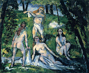John Peter Metal Prints - Bathers by Cezanne Metal Print by John Peter