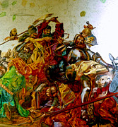 Pride Paintings - Battle of Grunwald by Henryk Gorecki