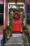 Jvitali Prints - Beacon Hill Doorways Print by Joann Vitali