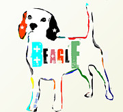 Mixed Media Of Dogs Posters - Beagle Poster by Brian Buckley