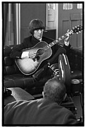 The Beatles Photo Metal Prints - Beatles HELP George Harrison Metal Print by Emilio Lari