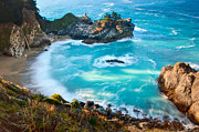 Ledge Photos - Beautiful McWay Falls along the Big Sur Coast. by Jamie Pham