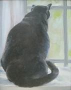 Kitchen Window Paintings - Bella by Dorothy Siclare