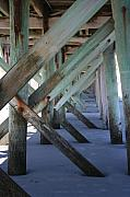 Man Made Structure Digital Art Prints - Beneath the Docks Print by Jamie Lynn