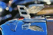 Vintage Hood Ornament Painting Prints - Bentley S1 1956 badge Print by George Atsametakis