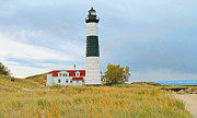 Ludington State Park Posters - Big Sable Point Lighthouse Poster by Jack Schultz