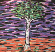 Conceptual Pastels - Birch at Dawn by Mike Manzi
