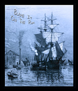 Parrot-head Prints - Blame It On The Rum Schooner Print by John Stephens
