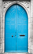 Medieval Entrance Posters - Blue door Poster by Tom Gowanlock