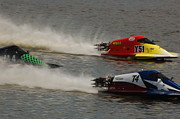 Dick Todd - 3 Boat Racers at speed