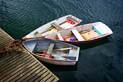 York Beach Metal Prints - 3 Boats Metal Print by Emmanuel Panagiotakis