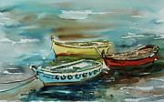 3 Boats II Print by Xueling Zou