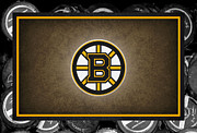 Puck Posters - Boston Bruins Poster by Joe Hamilton