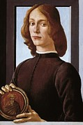 Young Man Framed Prints - Botticelli, Alessandro Di Mariano Dei Framed Print by Everett