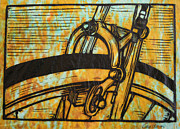 Bicycle Drawings - Brake by William Cauthern