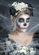Cobwebs Prints - Bride of the Dead Print by Nailia Schwarz