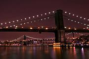Svetlana Sewell Metal Prints - Brooklyn Bridge Metal Print by Svetlana Sewell