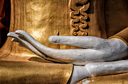 Temple Digital Art Posters - Buddha Hand Poster by Adrian Evans