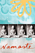 Faith Mixed Media Posters - Buddha Poster by Linda Woods