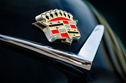 Black Photographs Prints - Cadillac Emblem Print by Jill Reger