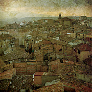 Rioja Prints - Calahorra roofs from the bell tower of Saint Andrew church Print by RicardMN Photography