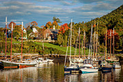 New England Village Scene Prints - Camden Maine Print by Brian Jannsen