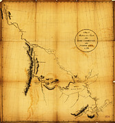 Maps Paintings - Canada Western 1801 by MotionAge Art and Design - Ahmet Asar