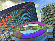 Canary Metal Prints - Canary Wharf London Art Metal Print by David Pyatt