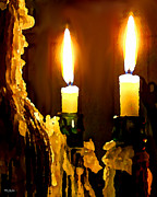 Candle Lit Digital Art Prints - Candle Wax Print by Mike Durham
